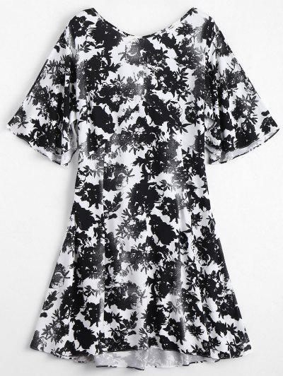 Vestido Floral Com Decote Nas Costas - Floral S