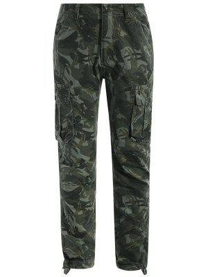 Flap Pockets Camo Pants