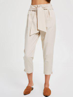 Casual Bow Tie Ninth Pants - Abricot S