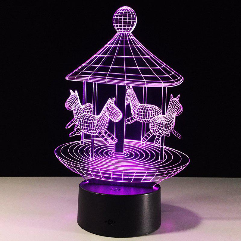 Lovely Carousel Shape Colors Change 3D LED Night Light 221756301