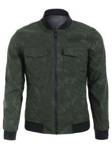 Camo Bomber Jacket - Army Green 2xl