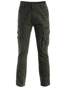 Pantalones De Los Bolsillos De La Aleta - Verde Del Ejército 3xl