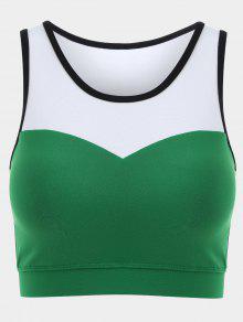 بلون راسيرباك حمالة الصدر الرياضية - أخضر M