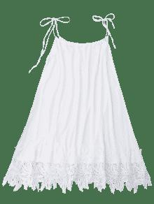 Sundress Trapeze Trim Lace L Blanco E8vnwq