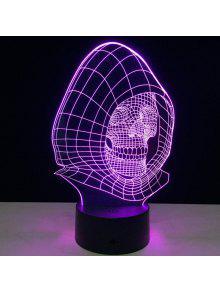 اللون تغيير معالج الجمجمة شكل 3d الوهم الصمام ضوء الليل - شفاف