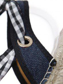 buy cheap huge surprise Stitching Tie Up Plaid Pattern Flat Shoes - Checked 37 manchester great sale cheap online classic cheap online 4hZWoPt