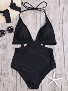 Halter Monokini - Negro L