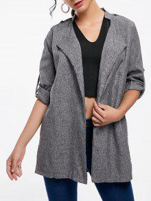 Open Front Tunic Coat