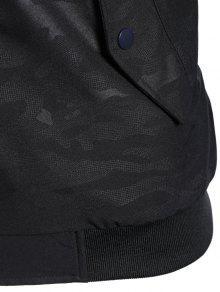 Side Letter Print Camo Hooded Jacket BLACK: Jackets & Coats M   ZAFUL