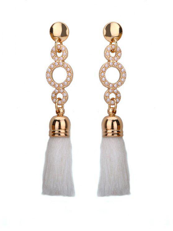 Boucles d'oreilles en perles en perles en perles - Blanc