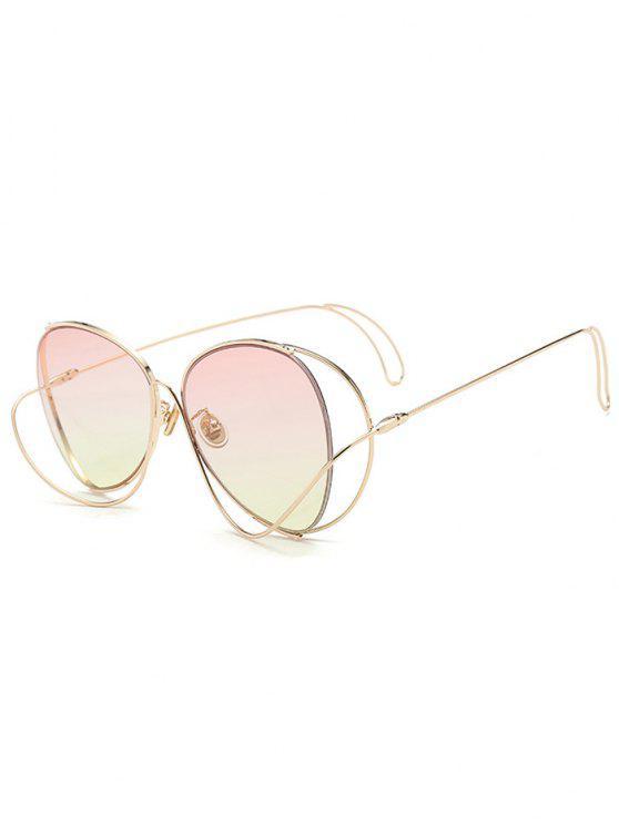 new Ombre Metallic Curve Surround Sunglasses - LIGHT PINK