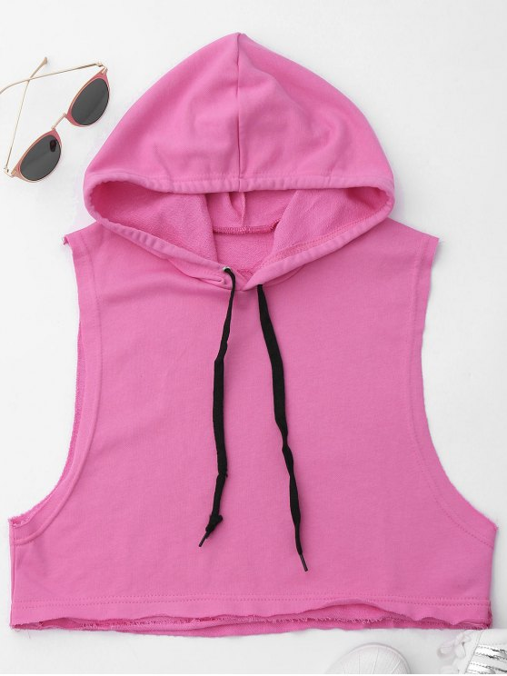 chic Dropped Armhole Hooded Sports Top - TUTTI FRUTTI ONE SIZE