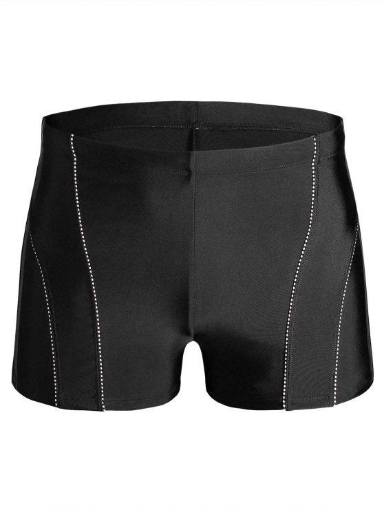 affordable Drawstring Swim Trunks - BLACK 3XL