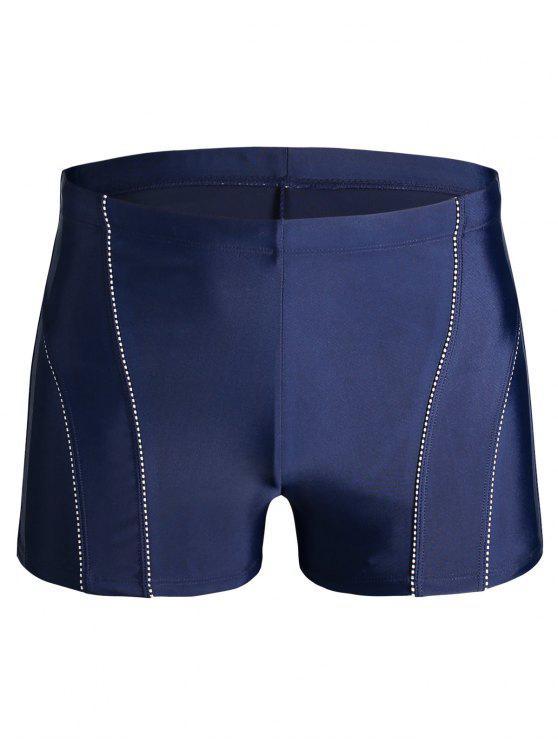 women's Drawstring Swim Trunks - BLUE 4XL