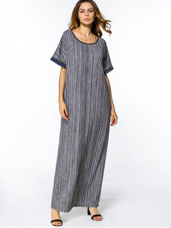 فستان طباعة شرابة تريم ماكسي - Colormix 2XL