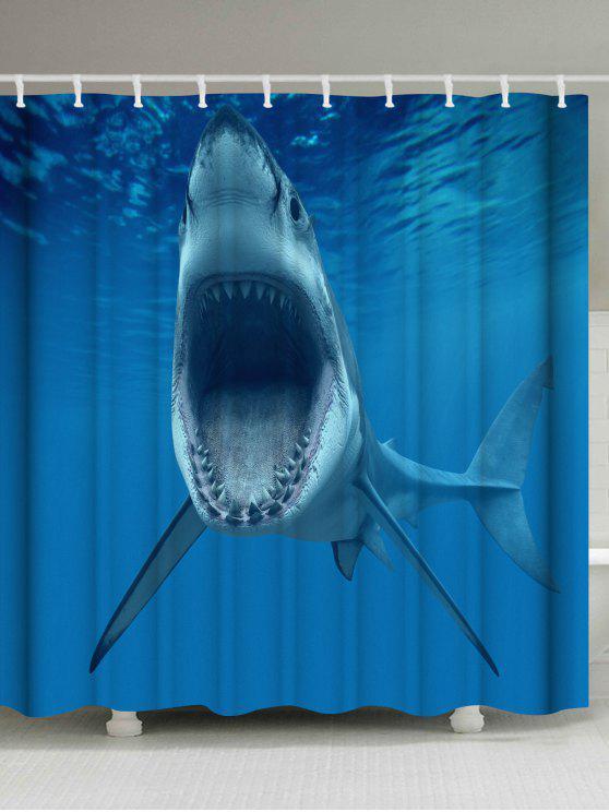 Water Resistant Fabric Ocean Shark Shower Curtain