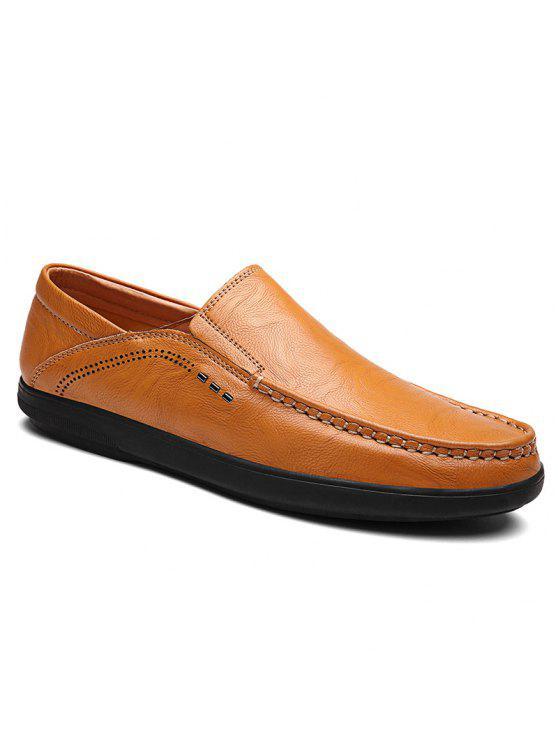 حذاء من الجلد الصناعي للرجال - الأصفر 41