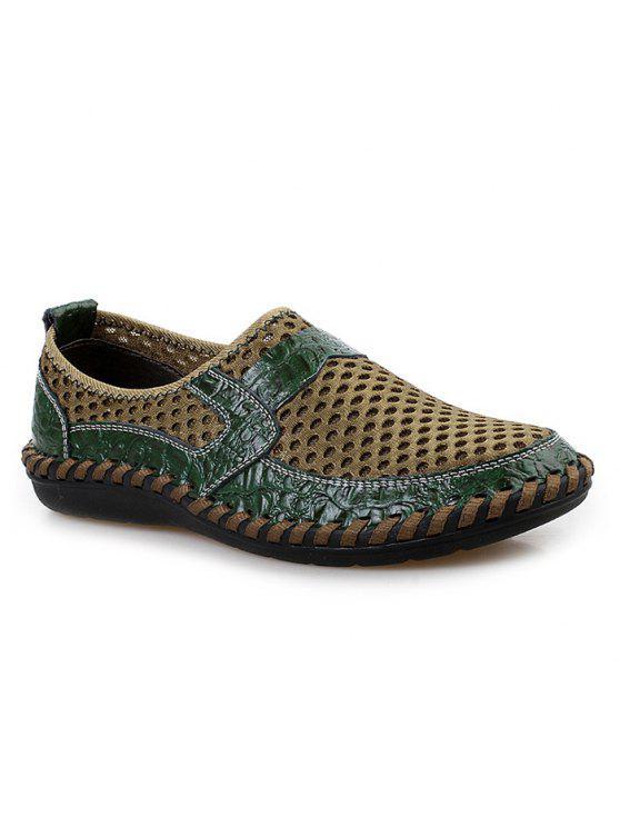 حذاء رياضي سهلة للارتداء قطع بجلد اصطناعي - أخضر 43