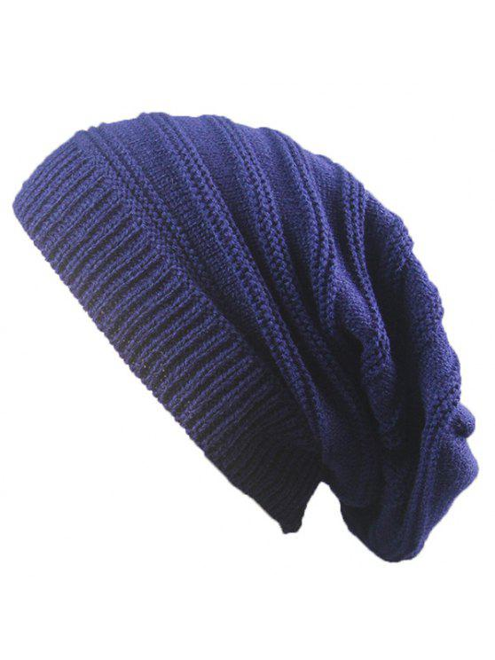 outfit Striped Ribbing Knitting Stacking Beanie Hat - CADETBLUE