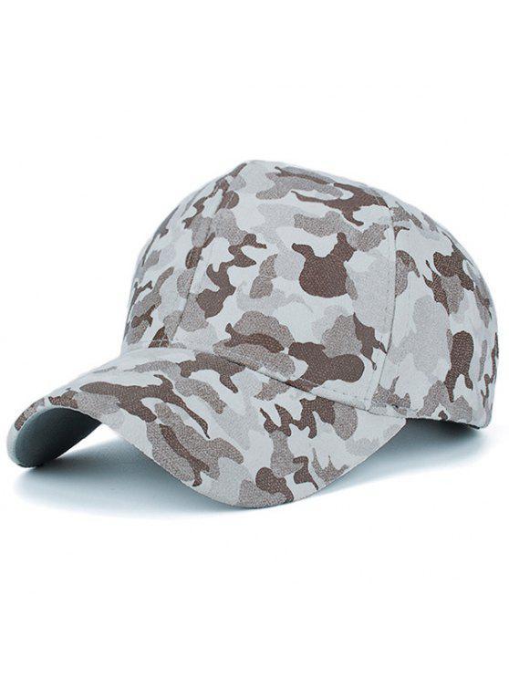 Faux Suede camuflaje patrón Hat de béisbol - Beis