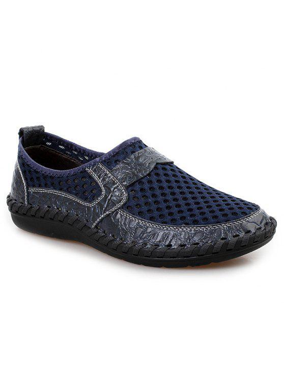 حذاء رياضي سهلة للارتداء قطع بجلد اصطناعي - أزرق 44