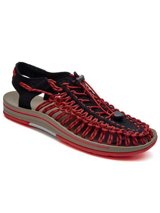 precio de descuento compra venta procesos de tintura meticulosos Bloque de color en ceneado sandalias trenzadas