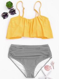 Conjunto De Bikini De Alta Cintura - Amarillo M
