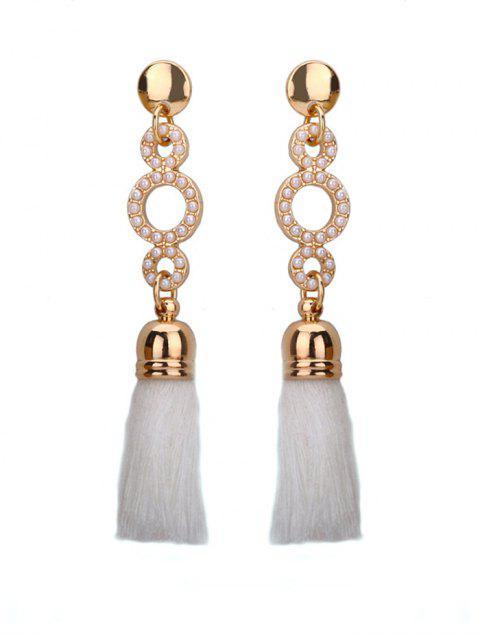 Boucles d'oreilles en perles en perles en perles - Blanc  Mobile