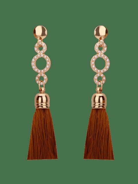 Boucles d'oreilles en perles en perles en perles - Café  Mobile