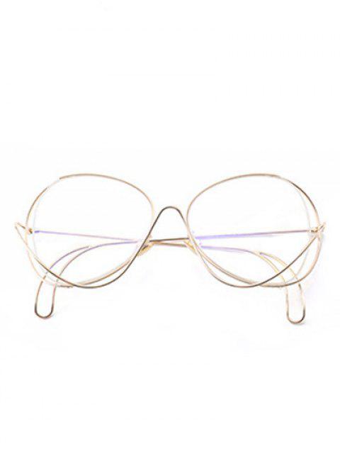 outfit Ombre Metallic Curve Surround Sunglasses - TRANSPARENT  Mobile