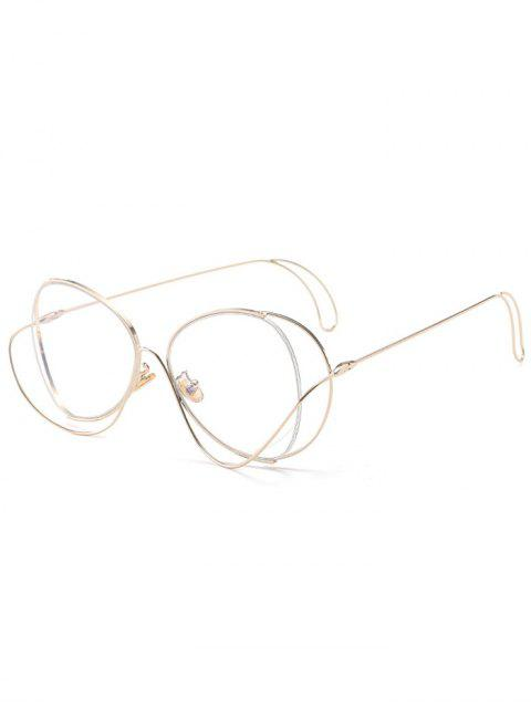 Ombre Metallic Curve Surround Lunettes de soleil - Transparent  Mobile