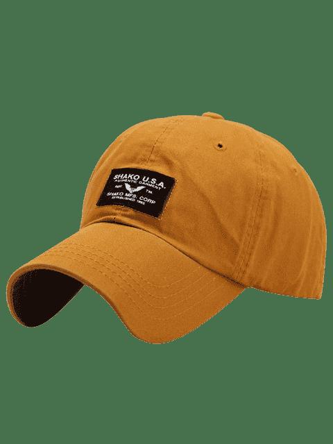 Lettres Patchwork Sunscreen Baseball Cap - Curcumae  Mobile