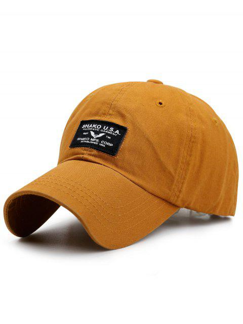 outfits Letters Patchwork Sunscreen Baseball Cap - GINGER  Mobile