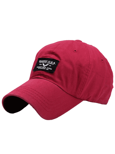 Lettres Patchwork Sunscreen Baseball Cap - Rouge Clair  Mobile