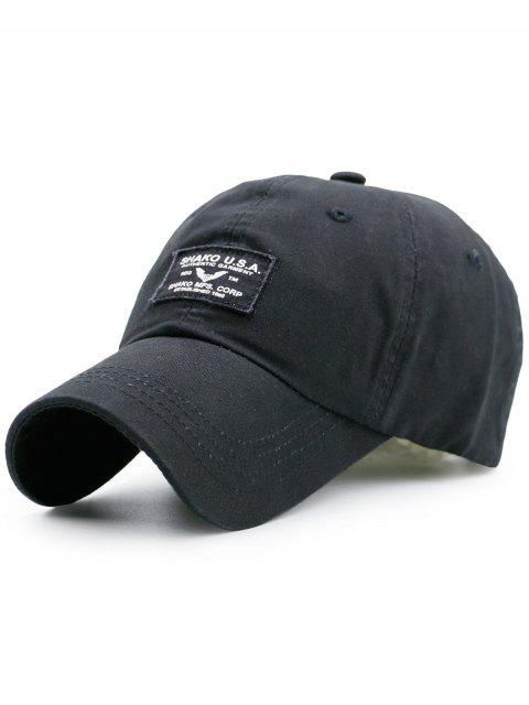 Lettres Patchwork Sunscreen Baseball Cap - Noir  Mobile