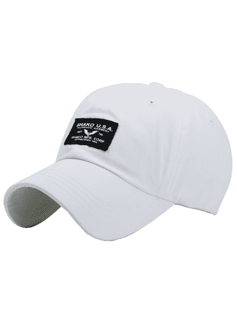 Lettres Patchwork Sunscreen Baseball Cap - Blanc  Mobile