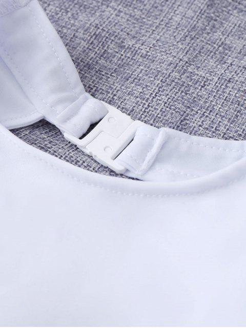 shop Cut Out Geometric High Waisted Kid Bikini - WHITE 4T Mobile