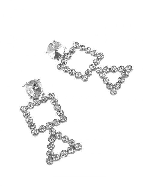 best Rhinestone Triangle Geometric Dangle Earrings - SILVER  Mobile