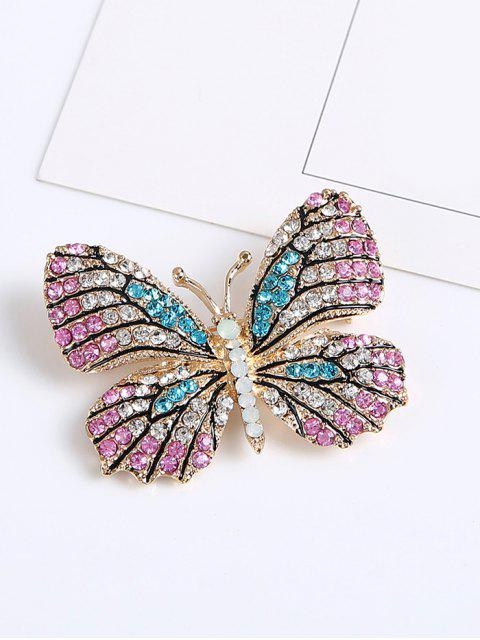 new Rhinestone Butterfly Sparkly Brooch - PINK  Mobile