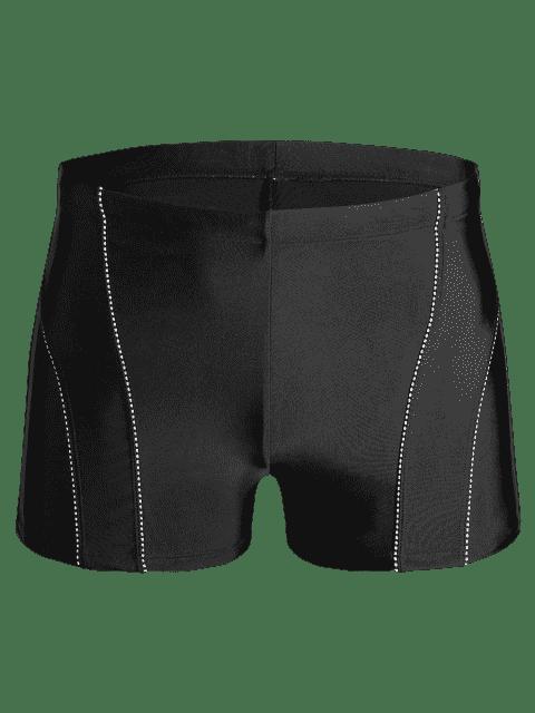 unique Drawstring Swim Trunks - BLACK 5XL Mobile