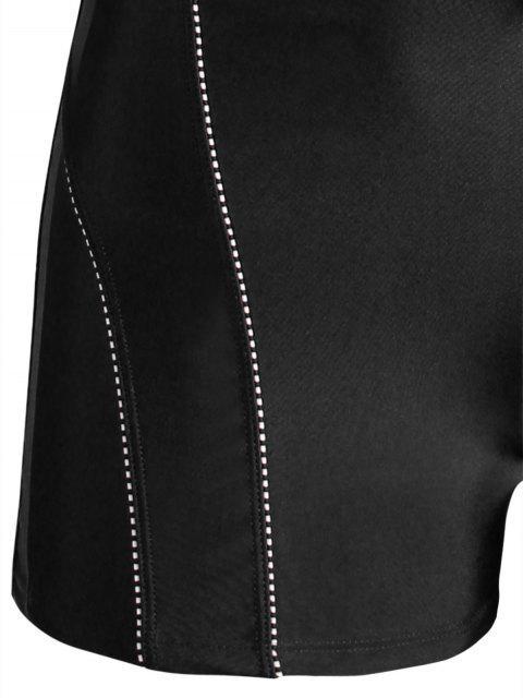 sale Drawstring Swim Trunks - BLACK 4XL Mobile