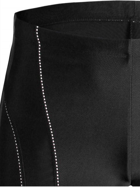 buy Drawstring Swim Trunks - BLACK 2XL Mobile