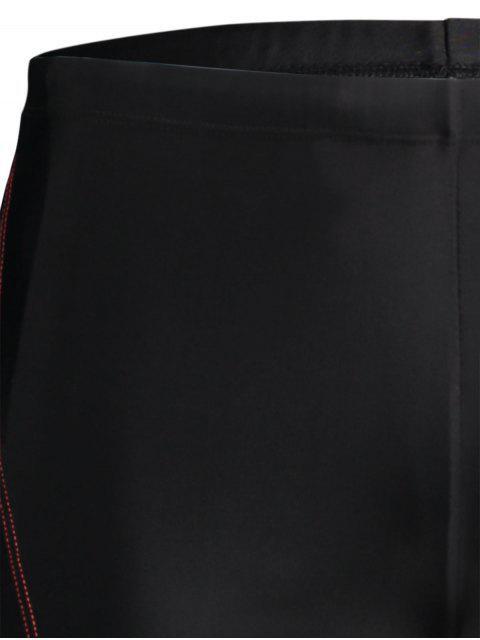 new Drawstring Printed Swim Trunks - BLACK 4XL Mobile