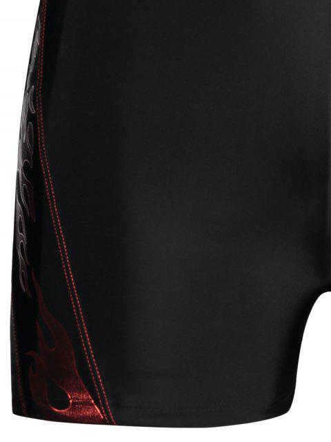 Troncs de natation imprimés à cordon - Noir 2XL Mobile