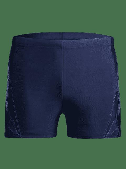 latest Drawstring Printed Swim Trunks - BLUE 3XL Mobile