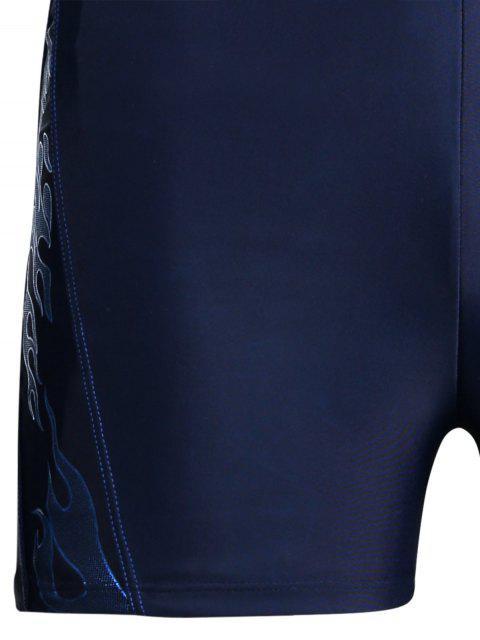 Troncs de natation imprimés à cordon - Bleu 2XL Mobile