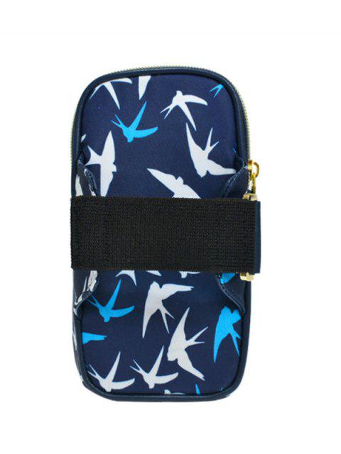 lady Color Block Polyester Running Arm Bag - DEEP BLUE  Mobile