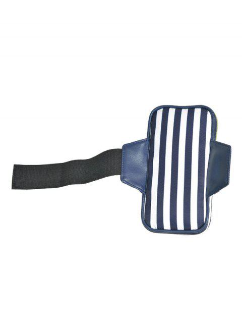 best Color Block Polyester Running Arm Bag - BLUE AND WHITE  Mobile