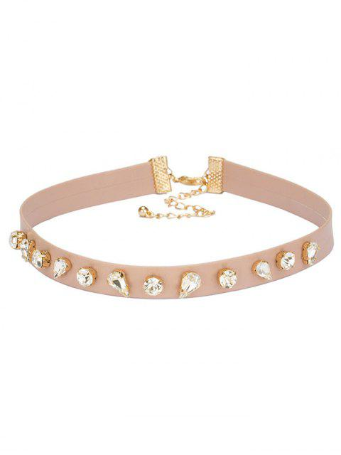 lady Teardrop Glass Choker - SHALLOW PINK  Mobile