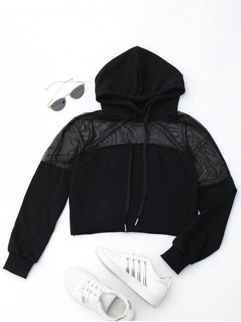 Hoodie de sport à maillots croisés - Noir S Mobile
